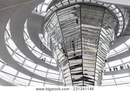 People Visit Reichstag Dome