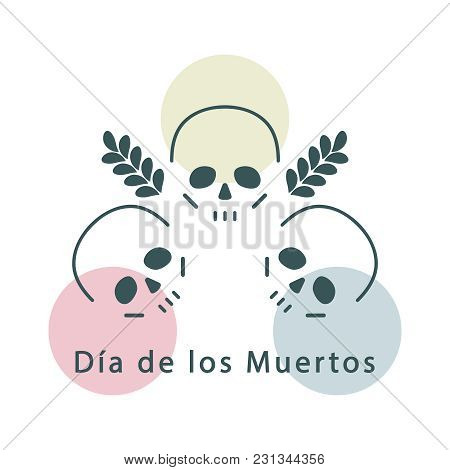 Linear Icon With Skulls. Vector Illustration, Design Element.