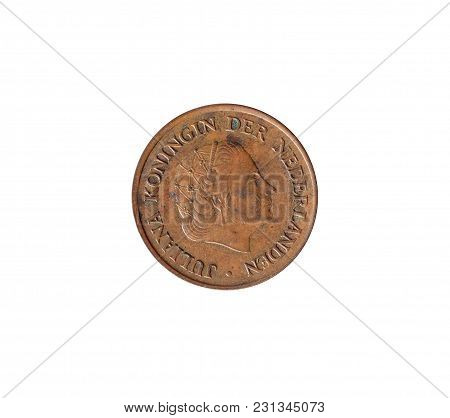 Obverse Of 5 Cent Coin Made By Netherlands In 1966
