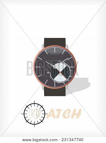 Wrist Watches Isolated On White Background.watch Illustration. Watch Image.