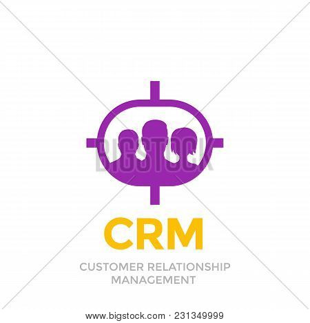 Crm, Customer Relationship Management Icon Isolated On White