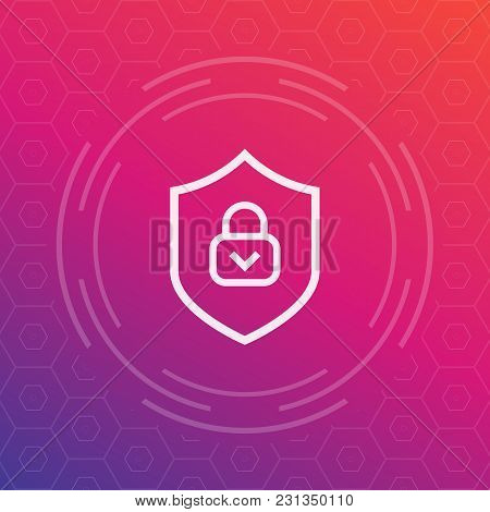 Cybersecurity Icon, Secure, Protection Sign, Eps 10 File, Easy To Edit