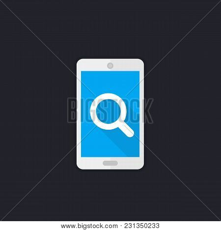 Mobile Search Icon With Smartphone, Eps 10 File, Easy To Edit