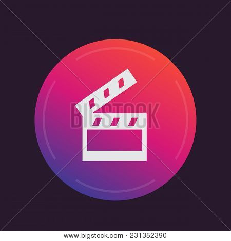 Clapperboard, Cinema, Movie Icon, Eps 10 File, Easy To Edit