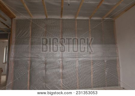 Thermal And Hidro Insulation Wall Insulation Construction New Residential Home.