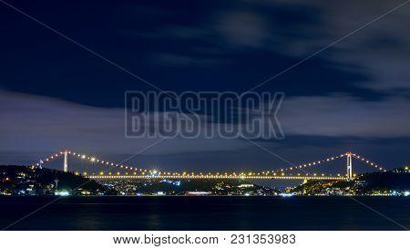 Conqueror Mehmet Sultan Bridge Is Second Bridge On Bosphorus. Istanbul - Turkiye