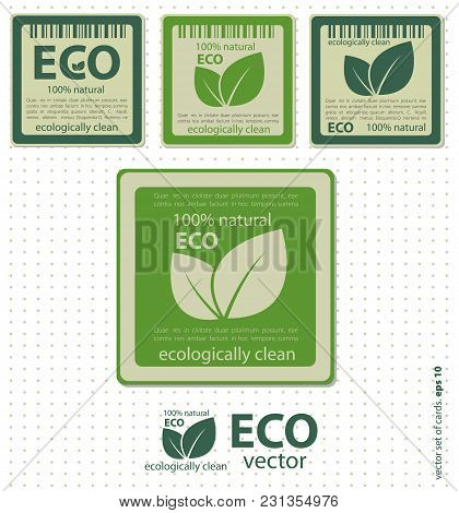 Set Of Eco Icons. Creative Vector Illustration For Business