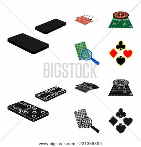 Excitement, Casino, Game And Other  Icon In Cartoon, Black Style Magnifier, Cheating, Entertainment,