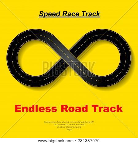 Speed Race Map Endless Silhouette With Sample Text