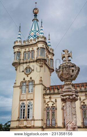 Sintra City Hall, Completed In 1910 In The Charcteristic 15th Century Manueline Style, With Old Ston
