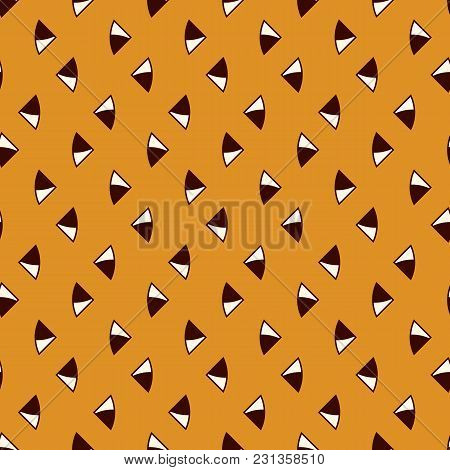 Minimalist Abstract Background. Simple Modern Print With Repeated Mini Triangles. Outline Seamless P