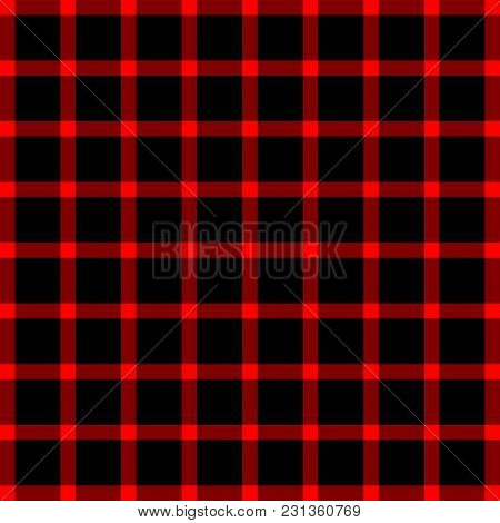 Scottish Black And Red Cage, Black And Red Celtic. Background In A Cage. Vector Illustration