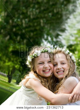 First Communion - Happy girlfriends