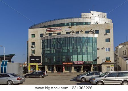 Haskovo, Bulgaria - March 15, 2014: Business Building In The Center Of City Of Haskovo, Bulgaria