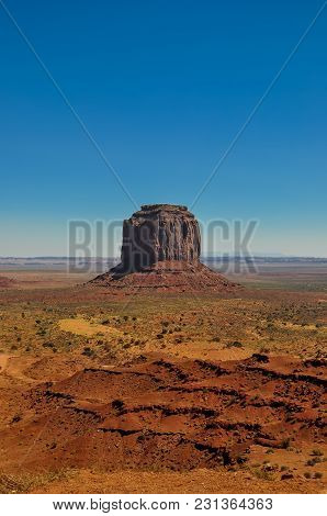 Merrick Butte, Rock Formation, In Monument Valley, Arizona
