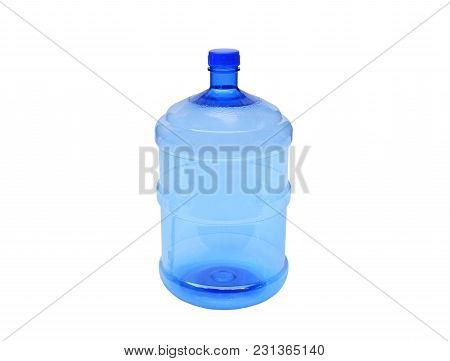 Plastic Water Container Isolated On White Background