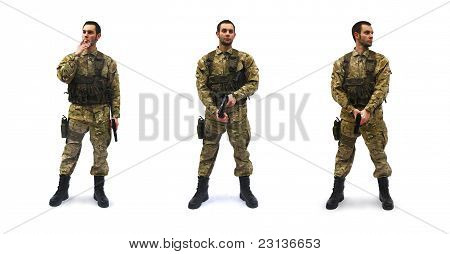 brave us soldier white background