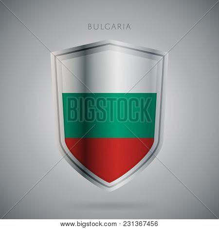Flags Europe Vector Icon. Bulgaria Flag, Isolated. Modern Design. National Country Flag. Country Of
