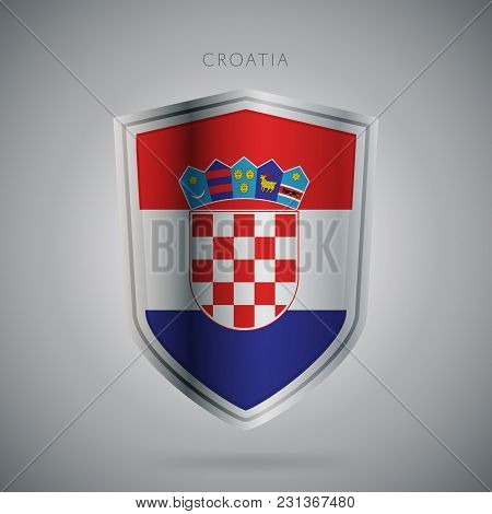 Flags Europe Vector Icon. Croatia Flag, Isolated. Modern Design. National Country Flag. Country Of M