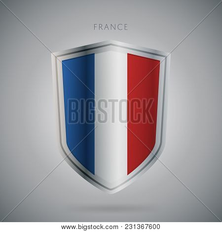 Flags Europe Vector Icon. France Flag, Isolated. Modern Design. National Country Flag. Country Of Me