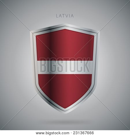 Flags Europe Vector Icon. Latvia Flag, Isolated. Modern Design. National Country Flag. Country Of Me