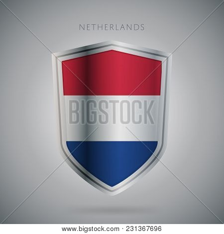 Flags Europe Vector Icon. Netherland Flag, Isolated. Modern Design. National Country Flag. Country O