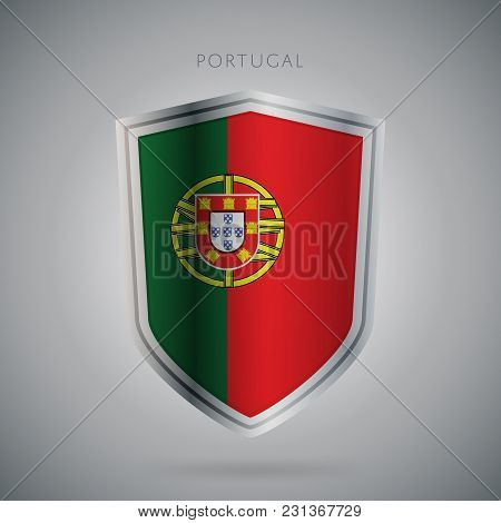 Flags Europe Vector Icon. Portugal Flag, Isolated. Modern Design. National Country Flag. Country Of