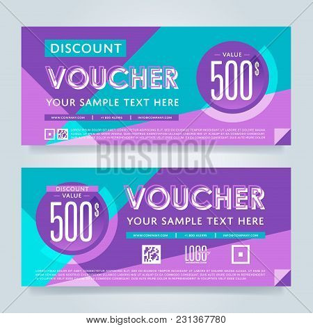 Gift Voucher Template, Vector Layout. Special Offer Coupon. Business Voucher Layout.