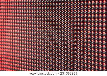 Red Led Lights Panel Wall Screen Background