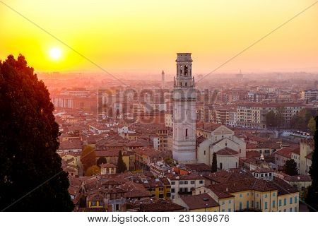 Panoramic View Of The City Of Verona