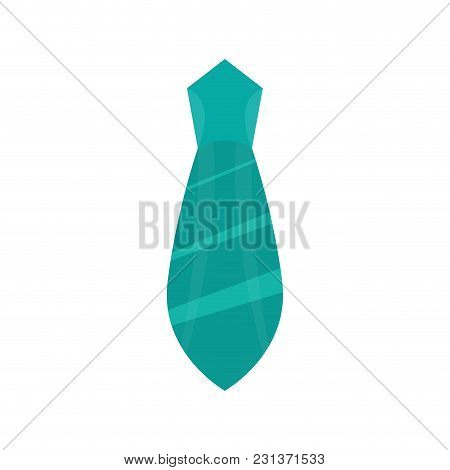 Isolated Striped Necktie Icon. Vector Illustration Design