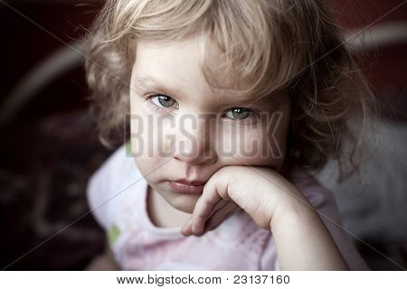 Little child, drawing paint. Isolated on white