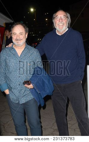 LOS ANGELES - MAR 14:  Kevin Pollak, James L. Brooks at the
