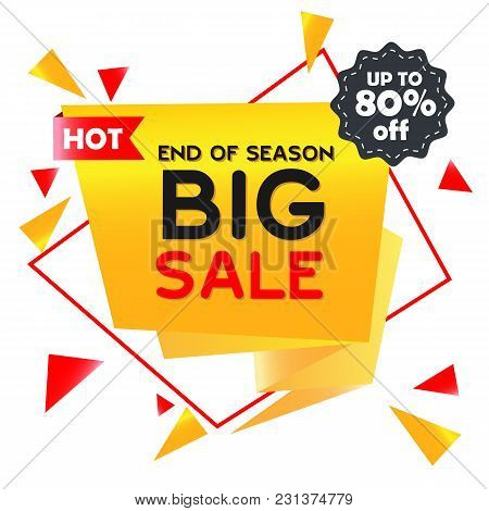 Hot Big Sale Up To 80% Off End Of Season Vector Image