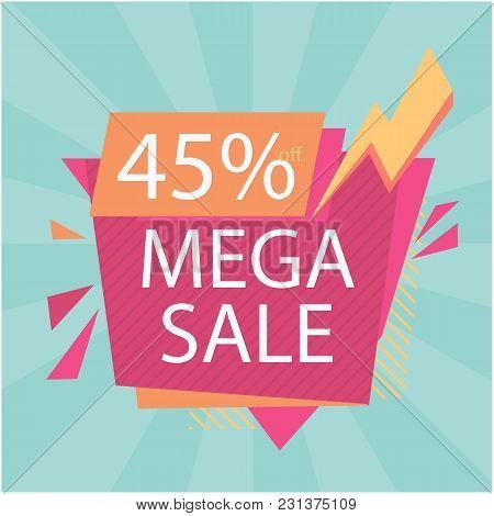 Mega Sale 45% Off Bolt Background Vector Image