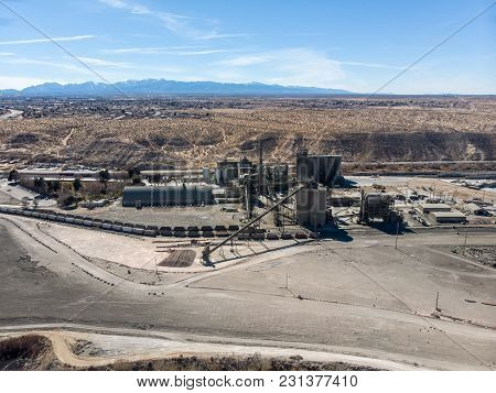 Mine Coal Factory In The Desert At Summer
