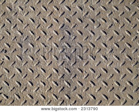 Rusty Steel Chequer Plate