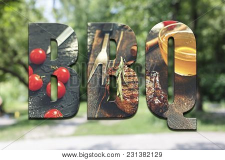 Bbq. Concept Summer Picnic And Eating Outdoors.