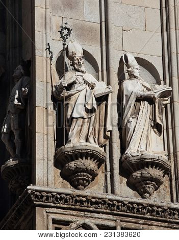Detail of the Toledo cathedral in Spain