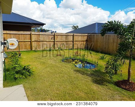 A Backyard In North Lakes, Queensland, Australia.