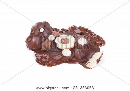 Melted Chocolate Easter Bunny