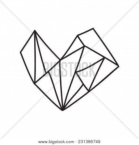 Vector Illustration Of A Geometric Heart Shape.