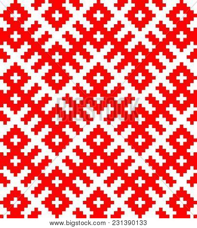 Traditional Ethnic Russian And Slavic Ornament.disabling Layer, You Can Obtain Seamless Pattern.sche