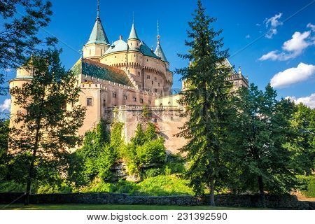 A Medieval Castle Bojnice In Slovakia, Europe.