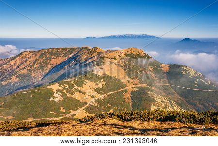 Mountain Landscape In The Vratna Valley At The National Park Mala Fatra, Slovakia, Europe.