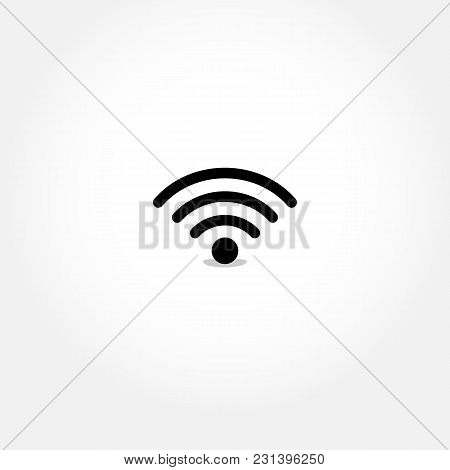 Wi-fi Logotype. Simple Wife Icon Illustration For Design