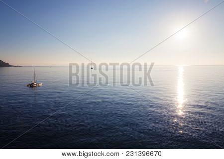 Yachts And Boats At The Sea At Sunny Day