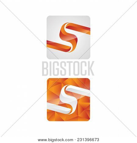 Save Download Preview Letter S Vector Concept Design For App. Modern Clean Geometric Letter S. Vecto