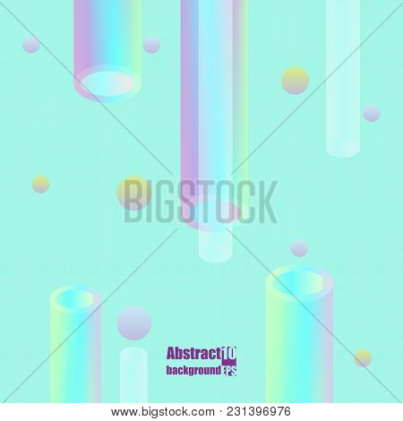Holographic Abstract Background. Stylish Gradient Backdrop With Hologram. Eps10 Vector Illustration
