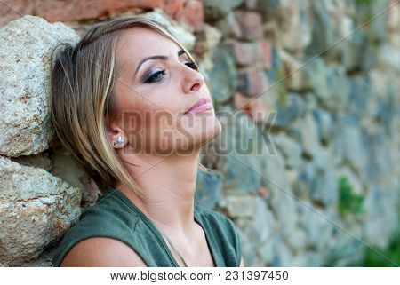 Portrait Of A Sad, Moody Blonde Woman